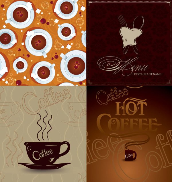 coffee poster vector free file