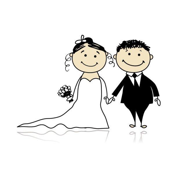 Hochzeitskarte Lustig Hochzeitsauto Comic Mit Baby Und Chauffeur