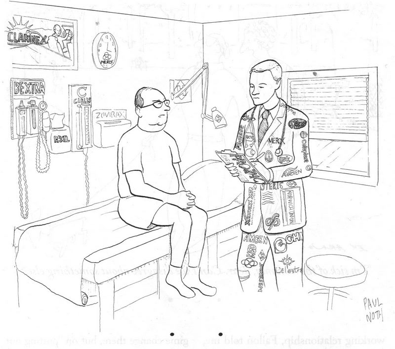 Pill Pusher  by Paul Noth, New Yorker 7/14/08