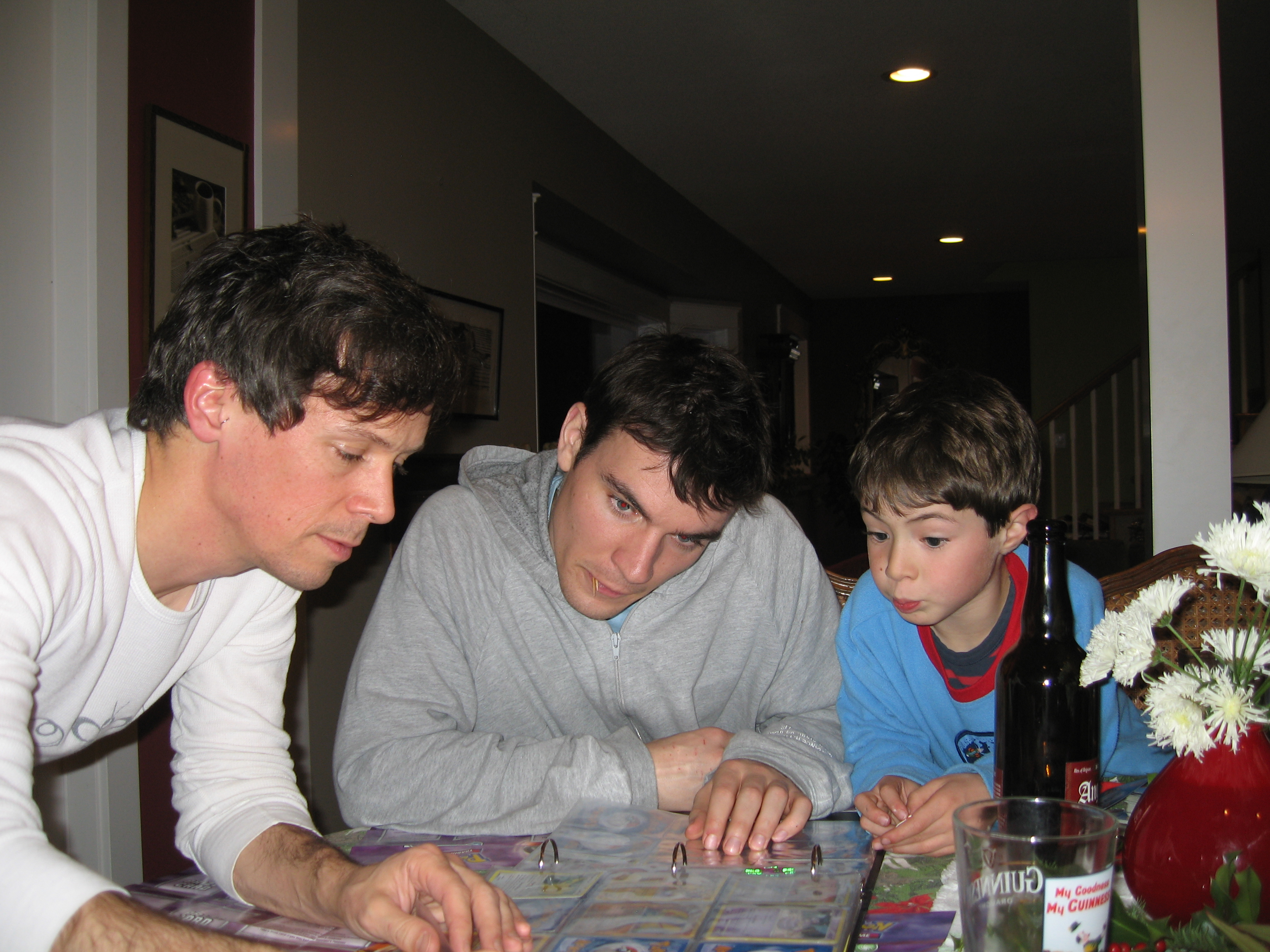 Uncles play Pokemon with Alexander