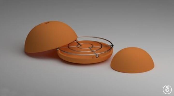 EGLOO. La parrilla metálica, colocada en la base, sirve de soporte para las cúpulas.
