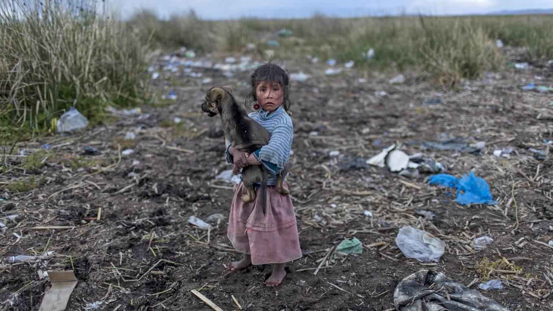 Lago Titicaca contaminado, Melinda Quispe