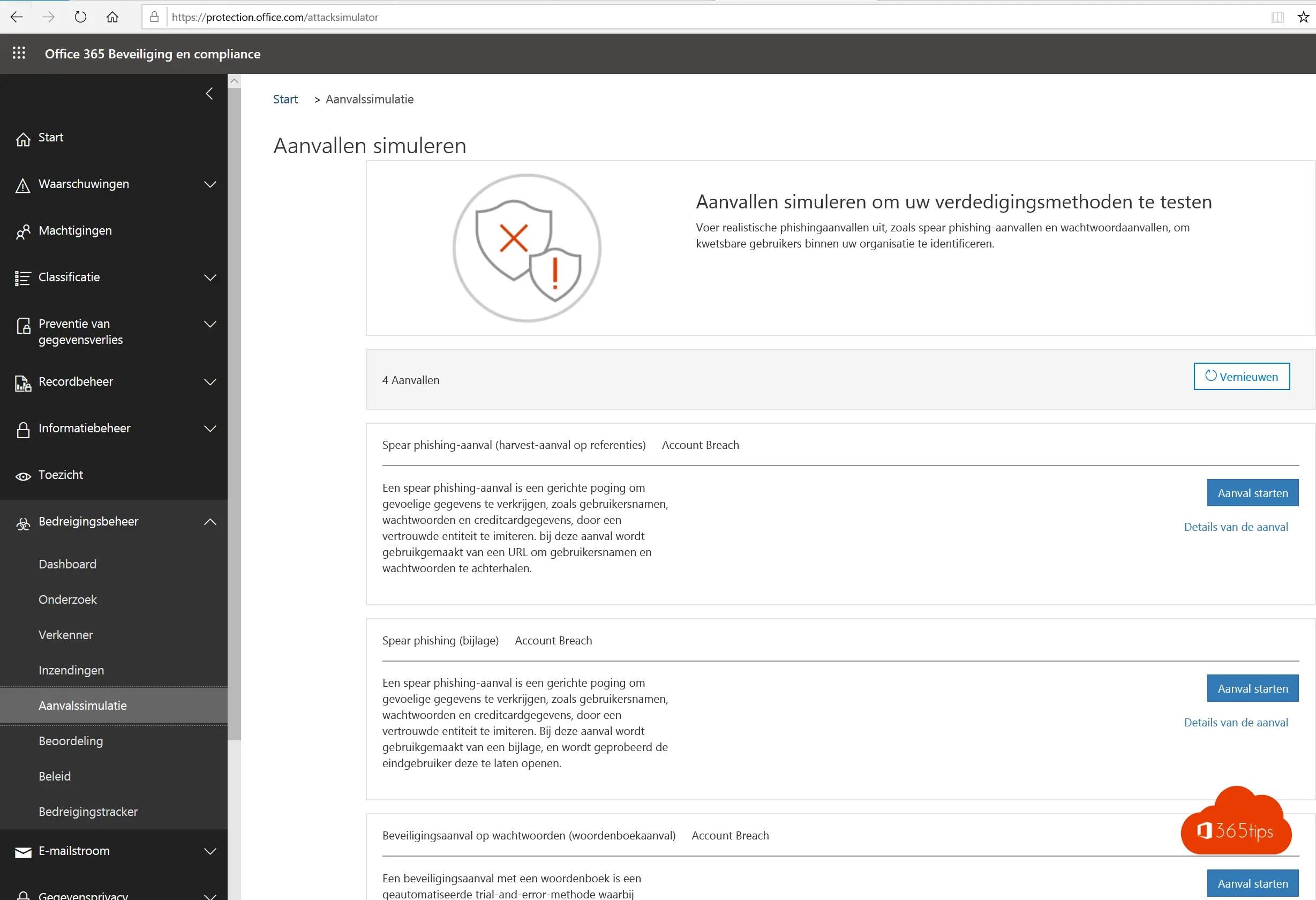 Attack Simulator in Office 365