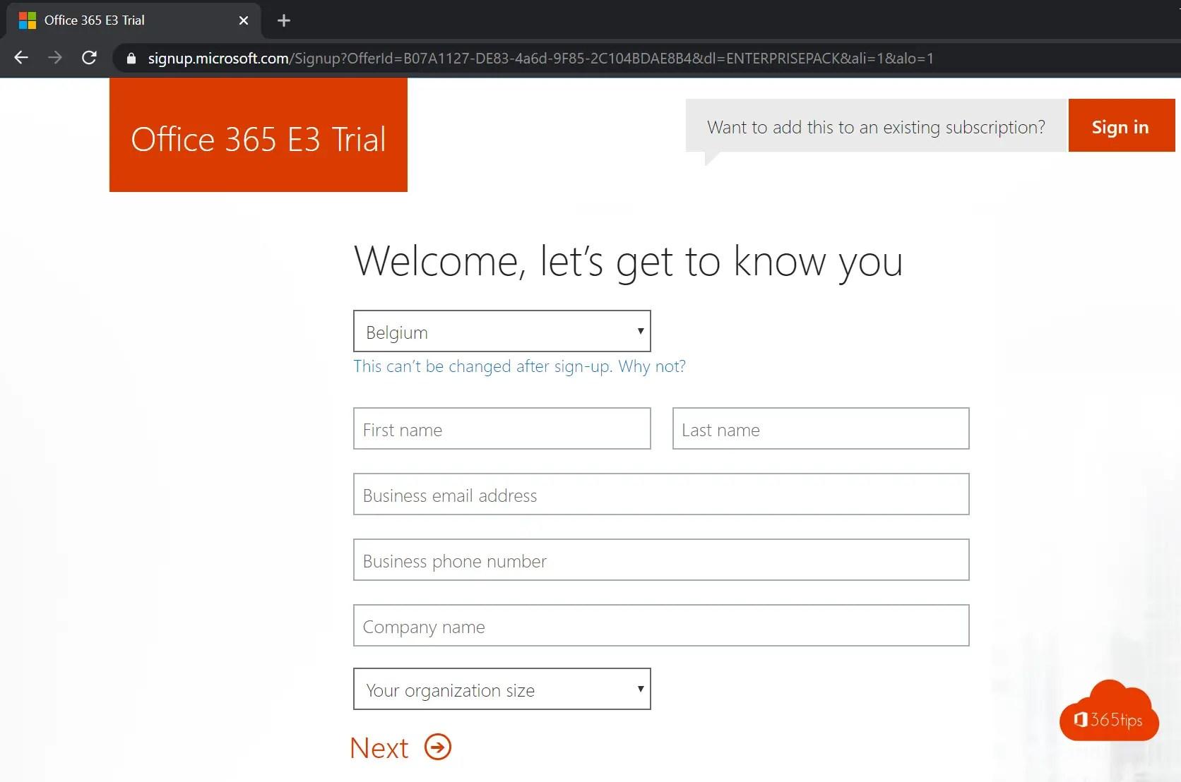 Handleiding: Hoe creeër je een Office 365 tenant?