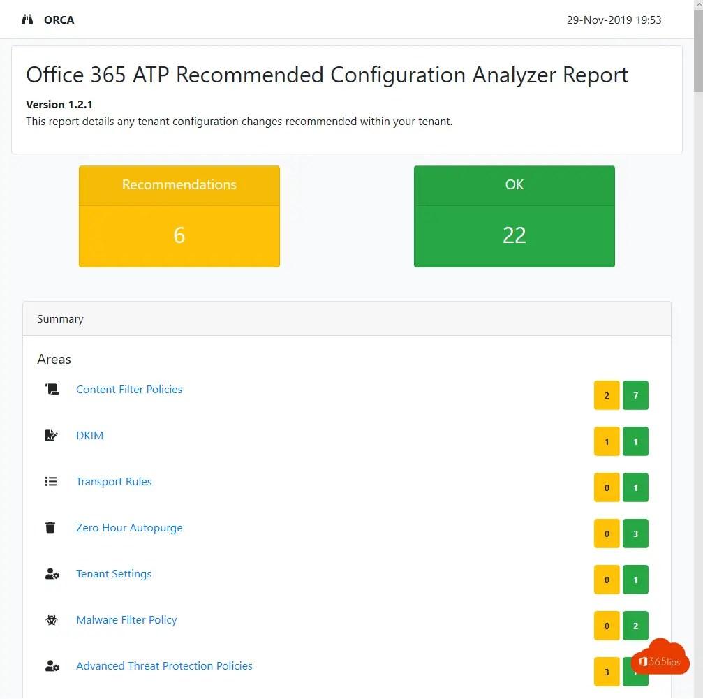 Office 365 ATP aanbevolen configuratie