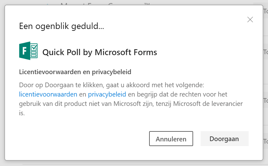 Microsoft Forms in PowerPoint activeren