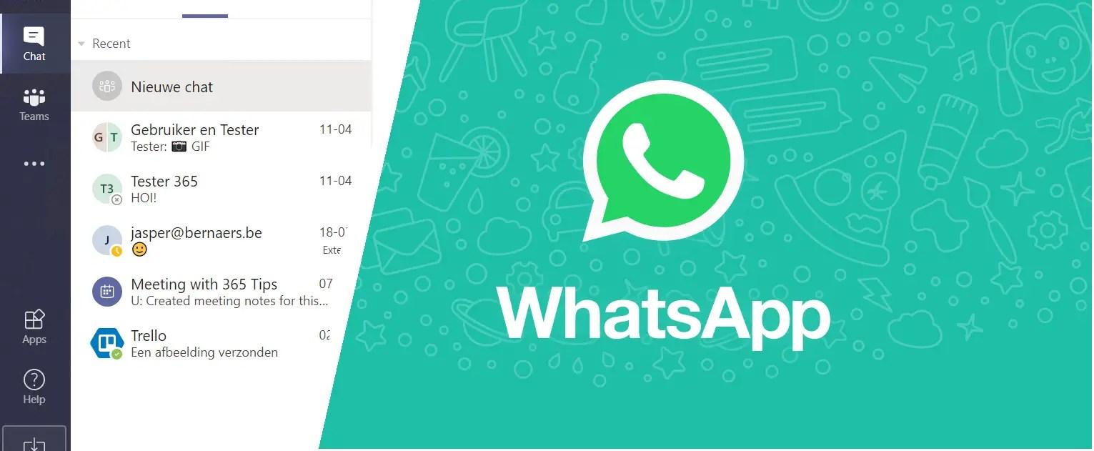 Microsoft Teams vergelijking met Whatsapp