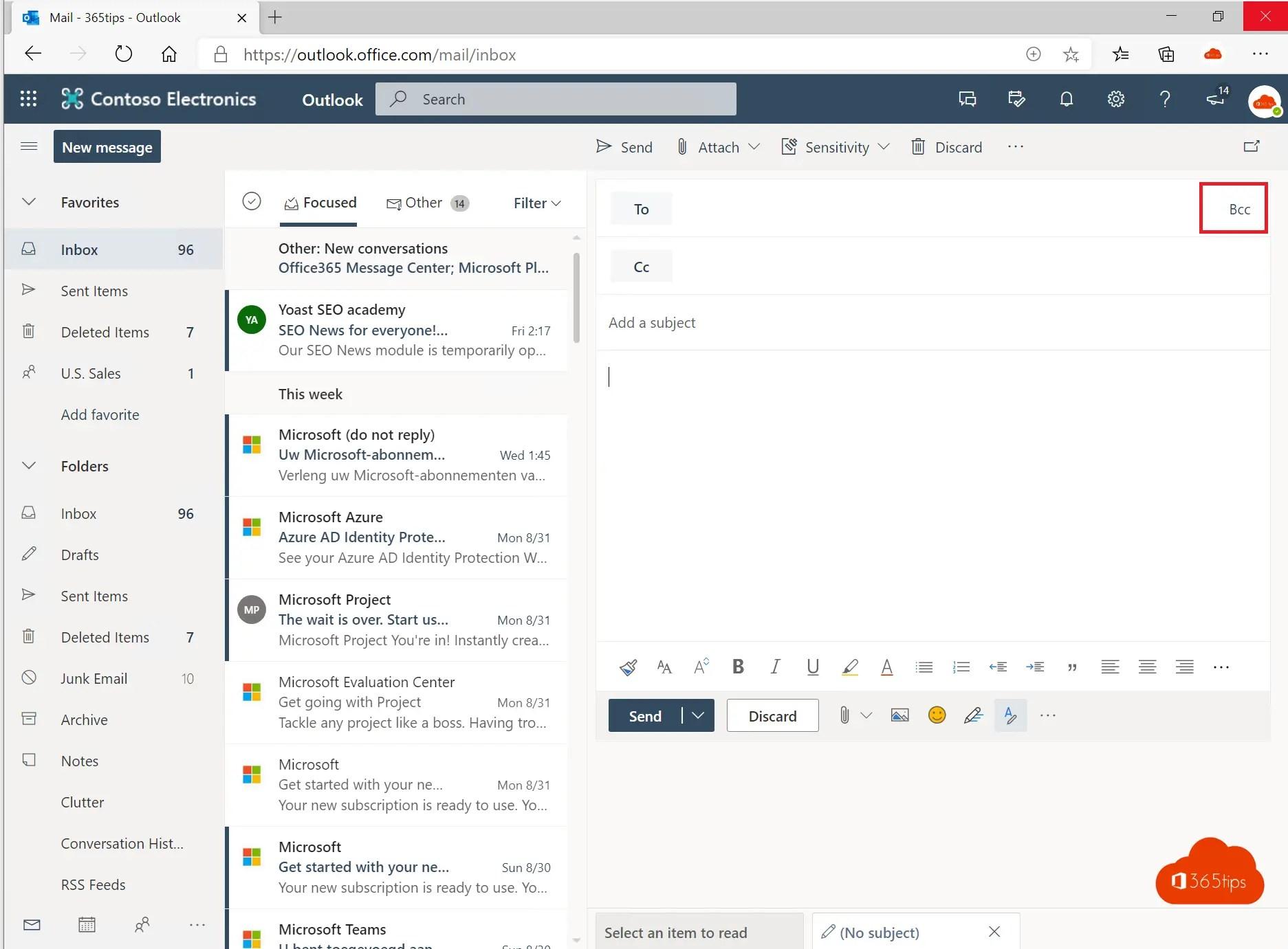 BCC veld toevoegen in Microsoft Outlook