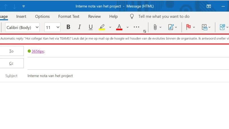 Interne e-mails automatisch doorsturen naar Microsoft Teams