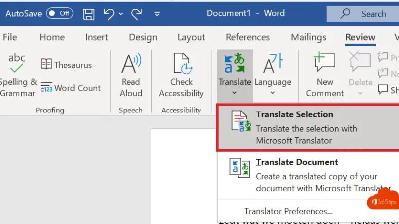 Automatisch vertalen in Microsoft Word