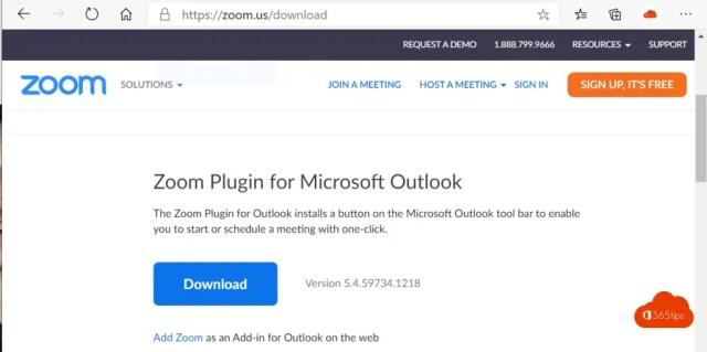 Zoom Plugin for Microsoft Outlook installatie