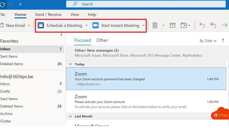Hoe zoom activeren in Outlook om automatisch vergaderingen te plannen?