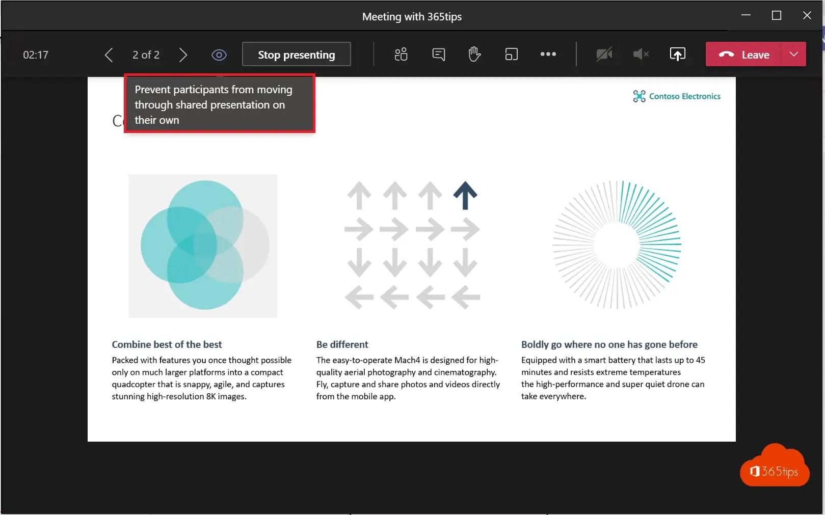 Voorkom dat deelnemers door een PowerPoint presentatie navigeren
