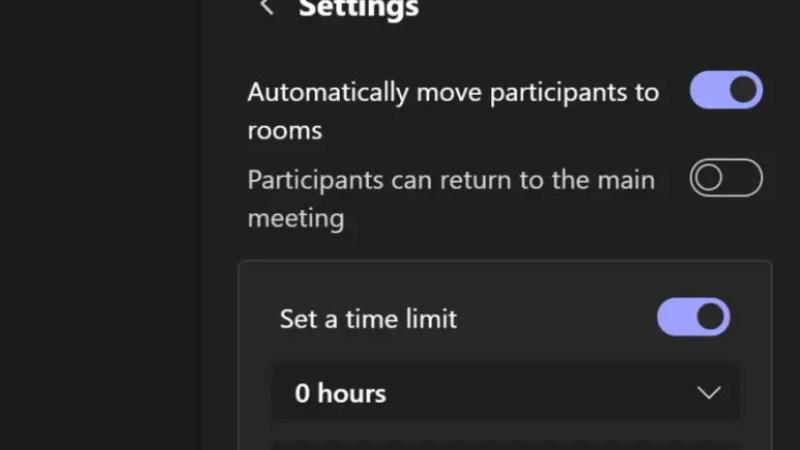 Een automatische timer instellen voor Microsoft Teams breakout rooms?