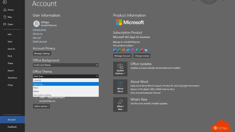 Handleiding: Activeer Dark Mode in Microsoft Word