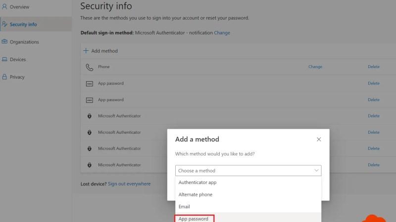 App-wachtwoorden beheren voor legacy applicaties – Multi-factor authentication