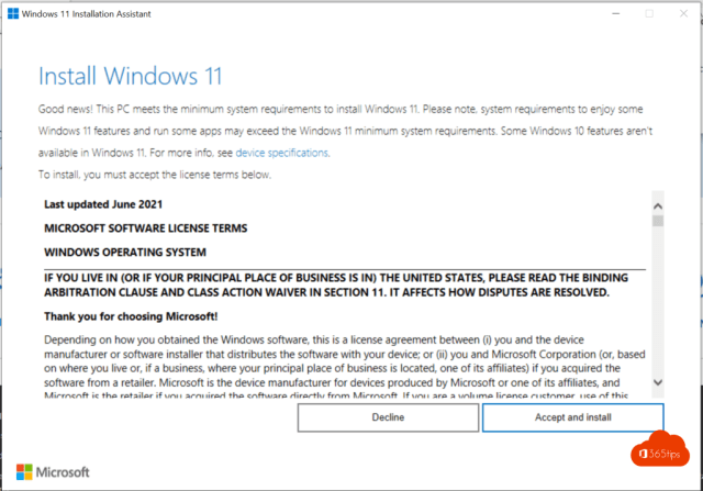 Windows 11 installation print screen