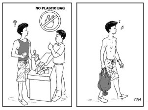 rather go naked than use a plastic bag