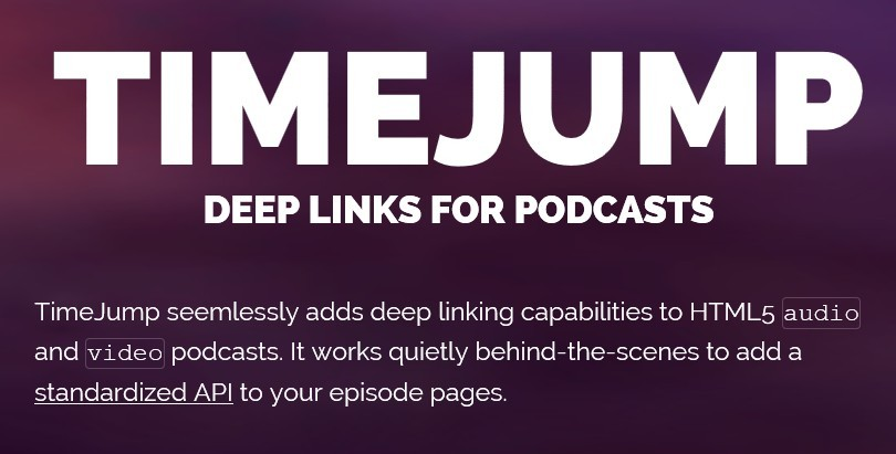 Timejump - Add Deep Links To HTML5 Audio and Video Podcasts