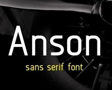 A Free Sans Serif Font - Anson