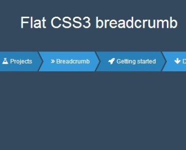 Creating A Flat Style Breadcrumb With Pure CSS3