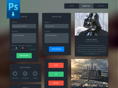 Dark UI Kit – Free download