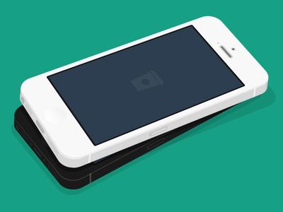 FREE PSD - Flat iPhone 5 3D MockUp