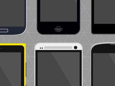 Flat Phones - PSD Freebie