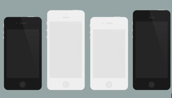 Flat iPhone 4 5 Mockups (PSD)