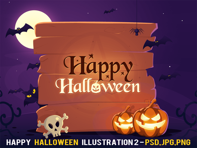 Free Happy Halloween Illustration 2