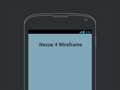 Nexus 4 Wireframe