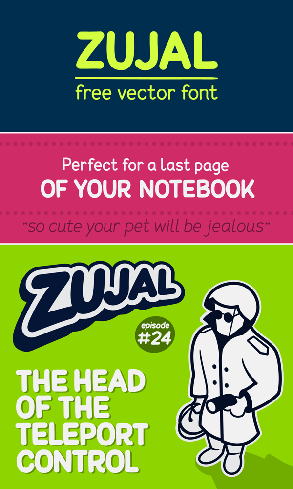 Zujal Free Vector Font