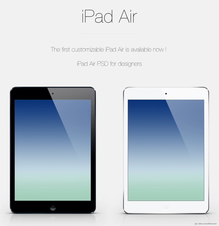 iPad Air customizable PSD
