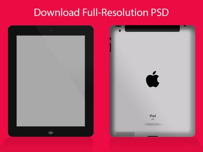 iPad Mockup PSD - Black