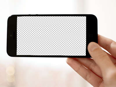 iPhone 5 horizontal template PSD