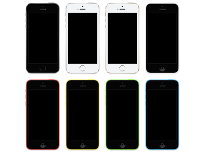 iPhone 5s + iPhone 5c [PSD]