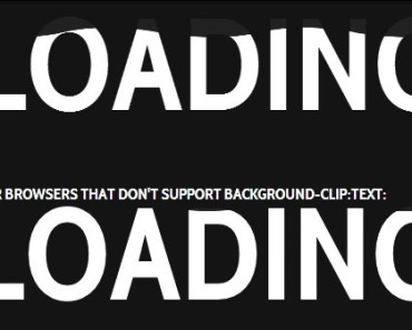 Animated Text Filling Effect with CSS3
