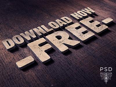 Free 3d Logo & Text Mock Up