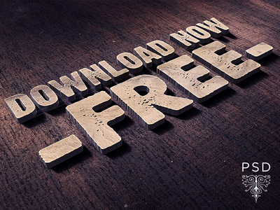 Free 3d Logo & Text Mock Up