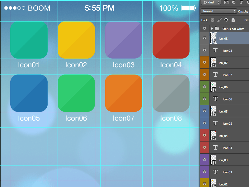 Icon iOS7 tool grid