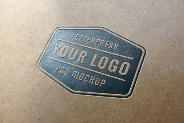 Letterpress Logo MockUp 1