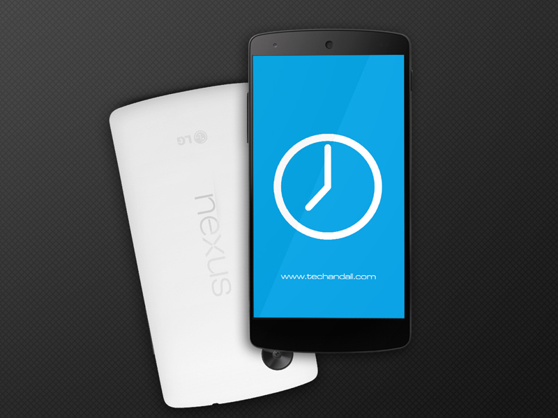 Nexus 5 Mock up Screen