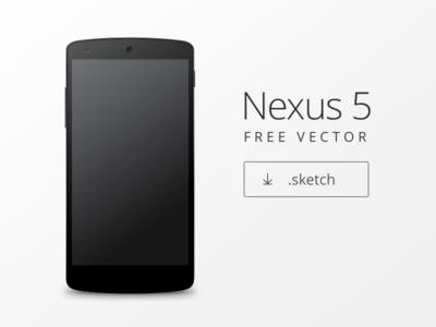 Nexus 5 Mockup Sketch