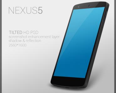 Nexus 5 PSD TILTED