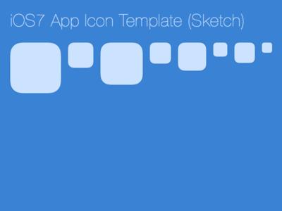 iOS7 App Icon Template (Sketch)
