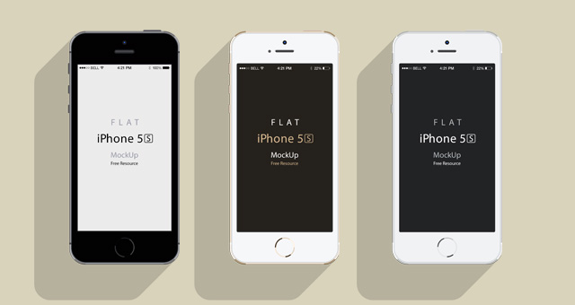 iPhone 5S Psd Flat Design Mockup