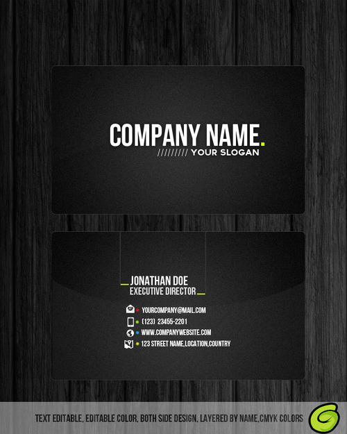 Dark Professional Business Card template