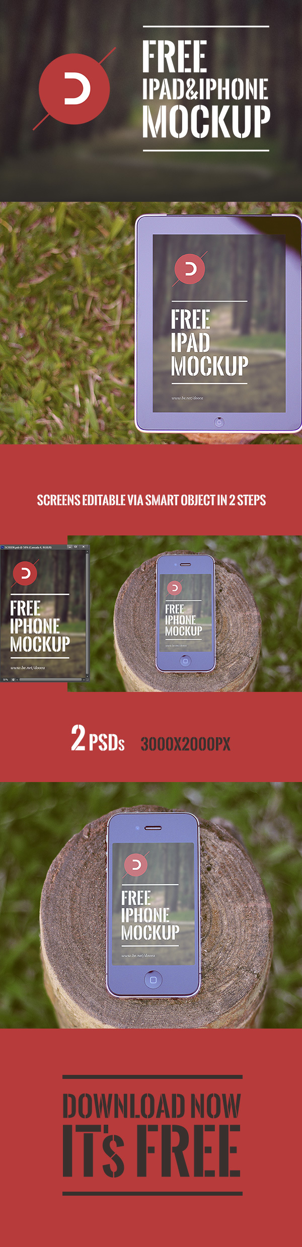 FREE iPad & iPhone Mockup