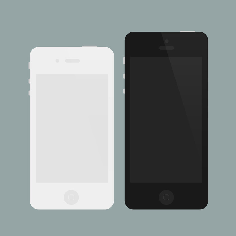 Flat iPhone 4 5 Mockups (PSD)