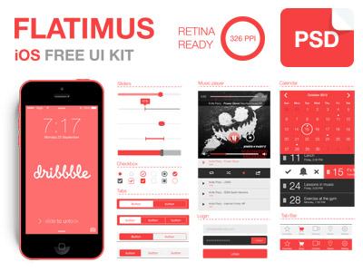 Flatimus iOS Free UI Kit